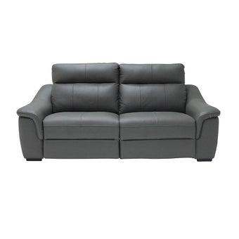 เก้าอี้พักผ่อนหนังแท้ 3 ที่นั่ง รุ่น Nante สีเทาเข้ม-00