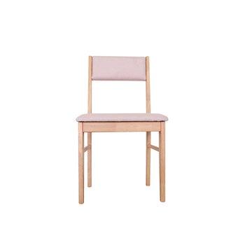 เก้าอี้ไม้ รุ่น Comfo เบาะชมพู