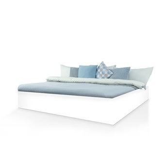 เตียงนอน ขนาด 5 ฟุต รุ่น Bedis สีขาว