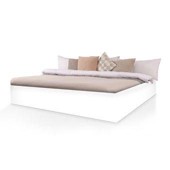 เตียงนอน ขนาด 6 ฟุต รุ่น Bedis สีขาว
