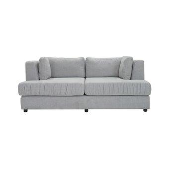 โซฟาผ้า 2 ที่นั่ง Hamo ผ้าเทาอ่อน-01