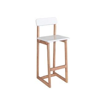 เก้าอี้บาร์ รุ่น Buddi สีขาว-ลินเบิร์ก
