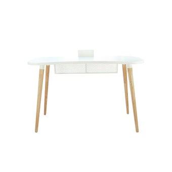 โต๊ะทำงาน รุ่น Bubblo สีขาว-ลินเบิร์ก