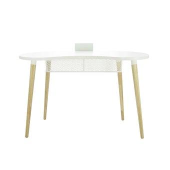 โต๊ะทำงาน รุ่น Beano สีขาว-ลินเบิร์ก