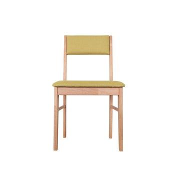 เก้าอี้ไม้ รุ่น Comfo เบาะเขียว