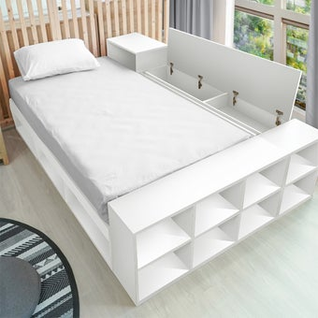 เตียงนอน ขนาด 3.5 ฟุต รุ่น FANTASY สีขาว