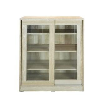 ตู้เก็บของ บานเลื่อนกระจกใส รุ่น Pantrio สีลินเบิร์ก