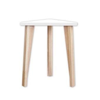 โต๊ะข้าง รุ่น Trii สีขาว