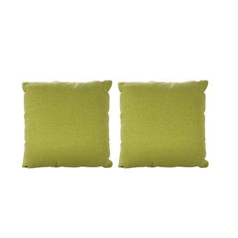 หมอนอิง 2 ชิ้น รุ่น Yeh ผ้าสีเขียว