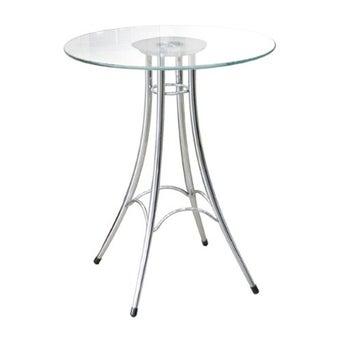 โต๊ะทานอาหาร โต๊ะอาหารขาเหล็กท๊อปกระจก รุ่น Ieffel-SB Design Square