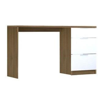 ชุดห้องนอน โต๊ะเครื่องแป้งแบบนั่ง รุ่น Finetti สีสีลายไม้ธรรมชาติ-SB Design Square