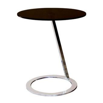 โต๊ะข้าง โต๊ะข้างเหล็กท๊อปกระจก รุ่น Act-SB Design Square