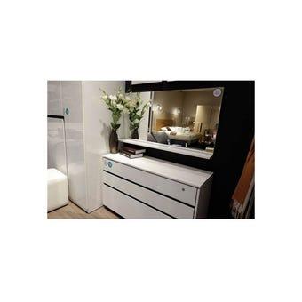 ชุดห้องนอน กระจกแบบแขวน รุ่น Exio สีสีขาว-SB Design Square