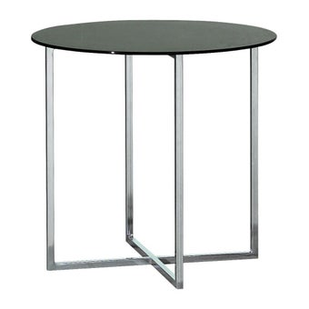 ชุดห้องนอน โต๊ะข้างเหล็กท๊อปกระจก รุ่น Exio สีสีเงิน-SB Design Square