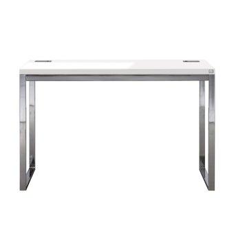 โต๊ะทำงาน ขนาด 120 ซม. รุ่น Spazz สีเงิน01