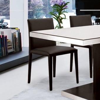 เก้าอี้ทานอาหาร เก้าอี้เหล็กเบาะหนัง รุ่น Yadraสีดำ-SB Design Square