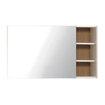 ชุดห้องนอน กระจกแบบแขวน รุ่น Maxio สีสีลายไม้ธรรมชาติ-SB Design Square