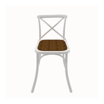เก้าอี้ทานอาหาร เก้าอี้ไม้ล้วน รุ่น Peggyสีขาว-SB Design Square