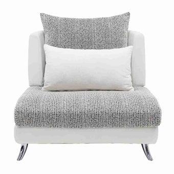 โซฟาผ้า โซฟา 1 ที่นั่ง รุ่น Jelly สีสีขาว-SB Design Square