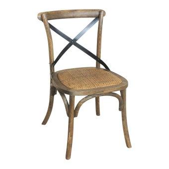 เก้าอี้ทานอาหาร เก้าอี้ไม้ล้วน รุ่น Exbarสีลายไม้ธรรมชาติ-SB Design Square
