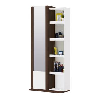 ชุดห้องนอน โต๊ะเครื่องแป้งแบบยืน รุ่น Patinal สีสีเข้มลายไม้ธรรมชาติ-SB Design Square