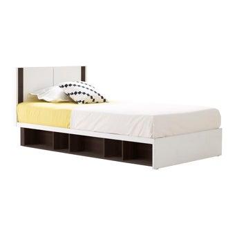 ชุดห้องนอน เตียง รุ่น Patinal สีสีเข้มลายไม้ธรรมชาติ-SB Design Square