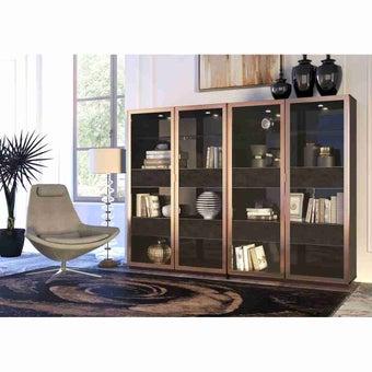 ห้องรับแขก ตู้โชว์ รุ่น Gianna สีสีดำ-SB Design Square