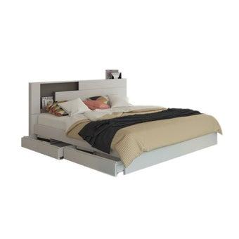 เตียงนอน ขนาด 5 ฟุต รุ่น Spazz สีขาว-00