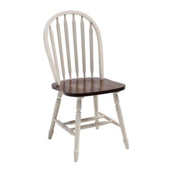 เก้าอี้ทานอาหาร เก้าอี้ไม้ล้วน รุ่น Guyสีขาว-SB Design Square