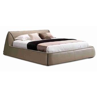 เตียงนอน ขนาด 6 ฟุต รุ่น Melita สีเทา