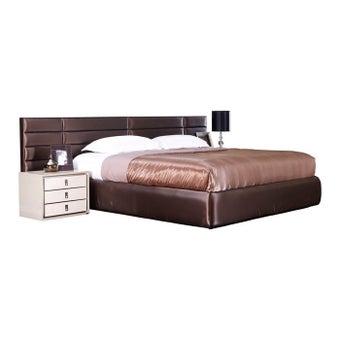 เตียงนอน ขนาด 5 ฟุต รุ่น Rufina สีทองแดงมุก