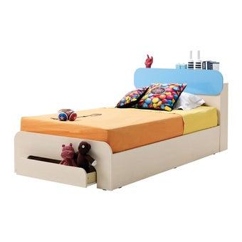 ชุดห้องนอนเด็ก เตียง รุ่น Bieber สีสีลายไม้ธรรมชาติ-SB Design Square