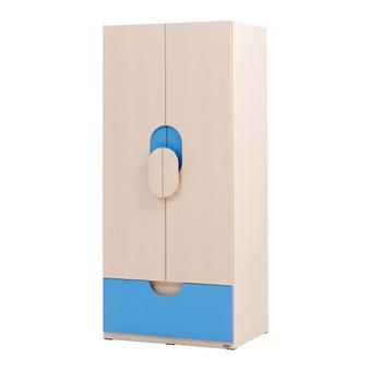 ชุดห้องนอนเด็ก ตู้เสื้อผ้าบานเปิด รุ่น Bieber สีสีลายไม้ธรรมชาติ-SB Design Square