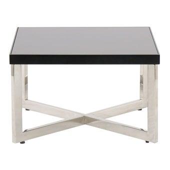 โต๊ะกลาง โต๊ะกลางเหล็กท๊อปกระจก รุ่น Yayoi สีสีเงิน-SB Design Square