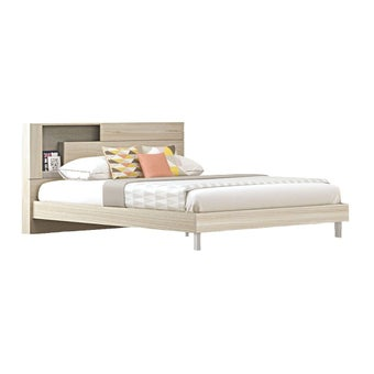 เตียงนอน ขนาด 5 ฟุต รุ่น Spazz โอ๊คอ่อน-00
