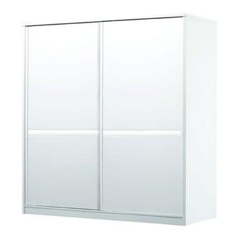 ชุดห้องนอน ตู้เสื้อผ้าบานเลื่อน รุ่น Meudon สีสีขาว-SB Design Square