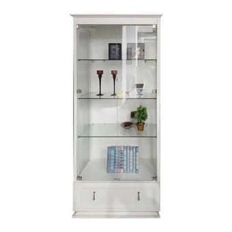 ห้องรับแขก ตู้โชว์ รุ่น Endear สีสีขาว-SB Design Square