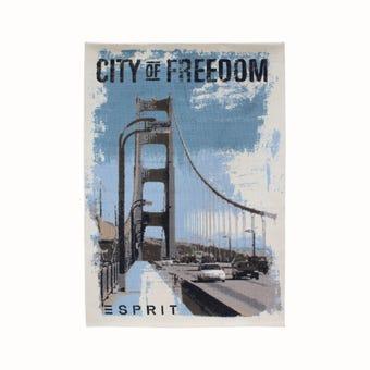 พรม#ESP-6192-01city of freedom สีฟ้า