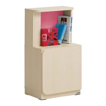 ชุดห้องนอนเด็ก ตู้ข้างเตียง รุ่น Bieber สีสีลายไม้ธรรมชาติ-SB Design Square