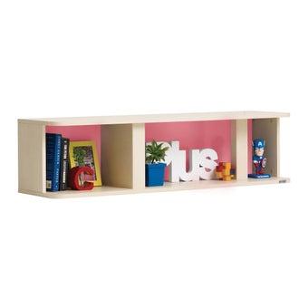 ชุดห้องนอนเด็ก กล่องแขวน รุ่น Bieber สีสีลายไม้ธรรมชาติ-SB Design Square