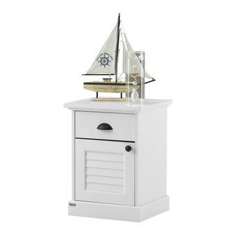 ชุดห้องนอน ตู้ข้างเตียง รุ่น Mahony สีสีขาว-SB Design Square