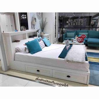 ชุดห้องนอน เตียง รุ่น Mahony สีสีขาว-SB Design Square