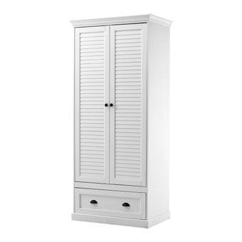ชุดห้องนอน ตู้เสื้อผ้าบานเปิด รุ่น Mahony สีสีขาว-SB Design Square