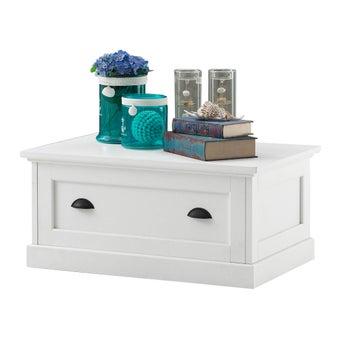 โต๊ะกลาง โต๊ะกลางไม้ล้วน รุ่น Mahony สีสีขาว-SB Design Square