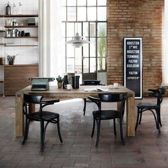 โต๊ะอาหาร รุ่น Farry สีลายไม้ธรรมชาติ-01
