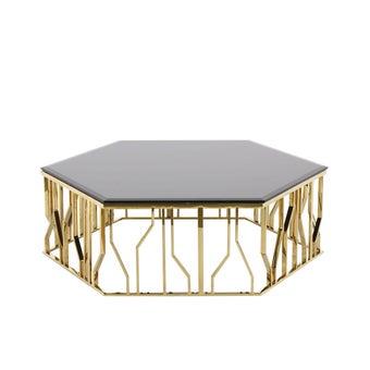 โต๊ะกลาง รุ่น Woxer สีทอง