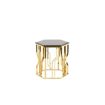 โต๊ะข้าง เหล็กท๊อปกระจก รุ่น Woxer-00