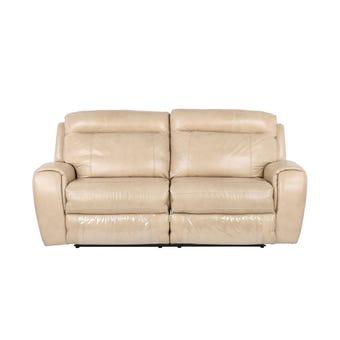 เก้าอี้พักผ่อนหนังแท้ เก้าอี้พักผ่อนปรับระดับไฟฟ้า 3 ที่นั่ง รุ่น Myoz สีสีครีม-SB Design Square