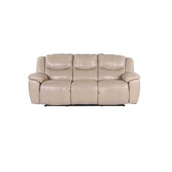 เก้าอี้พักผ่อนหนังแท้ เก้าอี้พักผ่อนปรับระดับไฟฟ้า 3 ที่นั่ง รุ่น Mambo สีสีครีม-SB Design Square