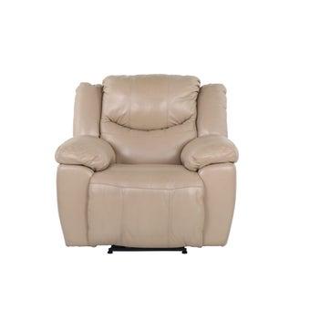เก้าอี้พักผ่อนหนังแท้ เก้าอี้พักผ่อนปรับระดับไฟฟ้า 1 ที่นั่ง รุ่น Mambo สีสีครีม-SB Design Square